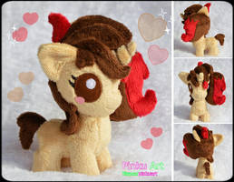 Baby Pony OC Dreamheart plush by PinkuArt