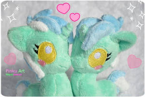 Lyra baby pony plushies~ by PinkuArt