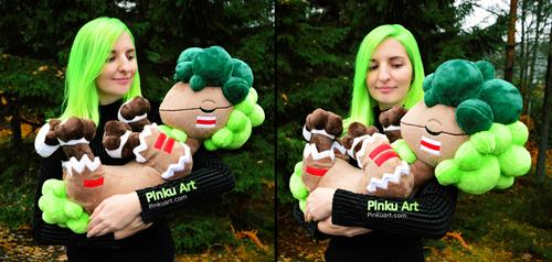 Holding the Bushboosky plush I Crystal Monsters by PinkuArt