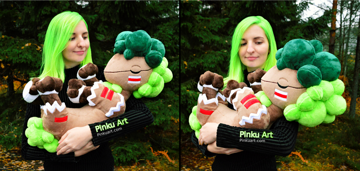 Holding the Bushboosky plush I Crystal Monsters by PinkuArt