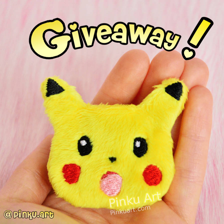 Giveaway! Surprised Pikachu clip I Pokemon by PinkuArt