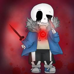 Found You~ [Killer!Sans] artwork   :v by BubbleIce720