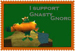 Gnasty supporter stamp by Lady-ALTernate