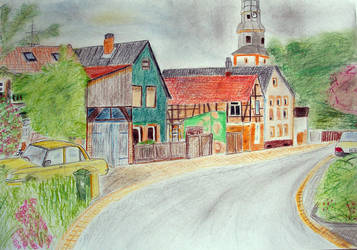 A Village Colored Pencil Style by scodex