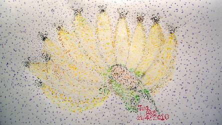 Banana Pointillism Art by scodex