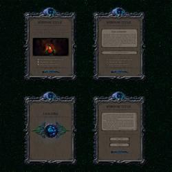 Fantasy interface concept by rzl-gfx