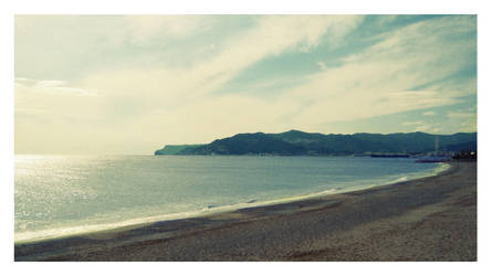 Beach and Mountains by nicoengel