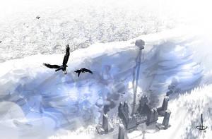 Castle Black - The Wall by mattolsonart