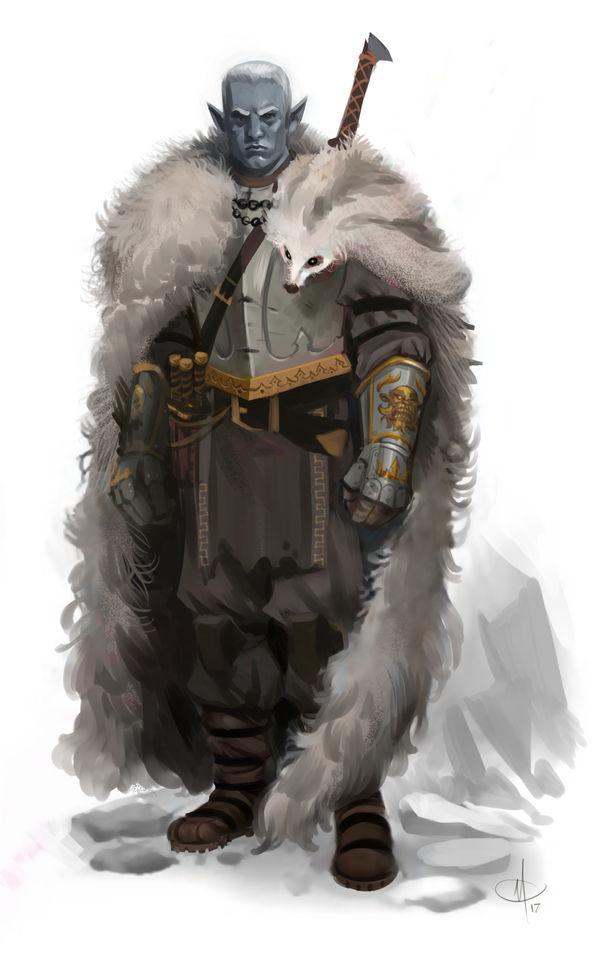 Drow Warrior by mattolsonart