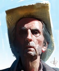 Harry Dean Stanton by mattolsonart