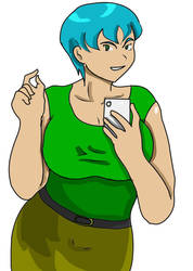 Ms Molly with phone by fighterxaos