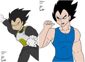 Vegeta speed sketches by fighterxaos
