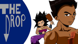 The Drop Title Card Tekken and Caulifla by fighterxaos