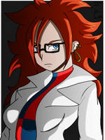 Android 21 in lab coat by fighterxaos
