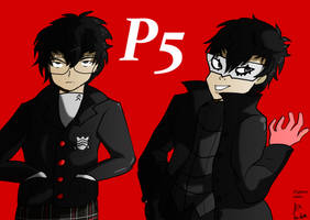 P5 protagonist by fighterxaos