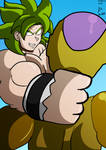 Broly v Frieza by fighterxaos