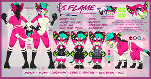Current 2019 Fursona Ref SFW by Flame-Expression