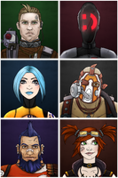 Borderlands 2: vault hunters by maryallen138