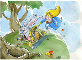 ALICE and the weird rabbit by FrancescaDaSacco