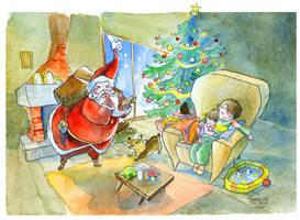 Waiting for Santa Claus by FrancescaDaSacco