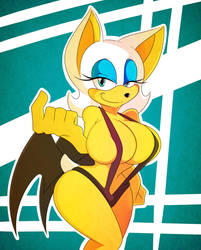 Rouge's New Swimsuit by XSuperiX