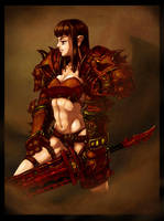 Blood Knight by linistic