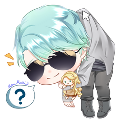 V with Rika doll by HaruMushi2