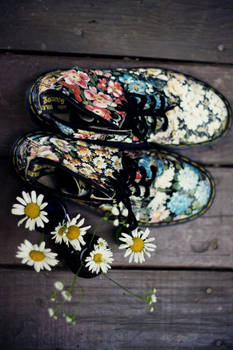 floral doc martens by The-optimist