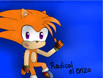 Radical the Hedgehog (Regalo para Dismotron) by ChicaOtakuNya11