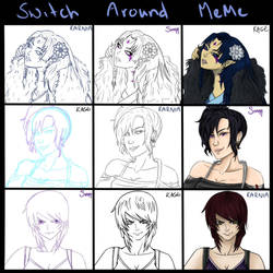 Switch Around Meme by Auriyee