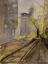 City In The Night (Long Exposure) -  1st Avenue by Oksana007