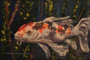 Koi Fish - oil by Oksana007