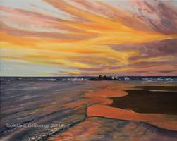 Sunset -Mediterranean Sea by Oksana007