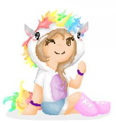 Pixelart Unicorn Girl I Draw Subscribers By Thesheepdraws On