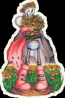 Scarf n Flowers by KannaTC