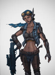 Sniper Girl Redux by indiosamurai