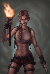 Lara Croft by indiosamurai