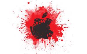 Blood Splattered Apple by heislegend913
