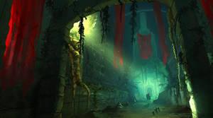 Ruined Jungle Entrance by JasonRoll