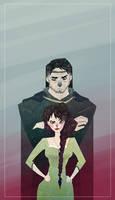 Nynaeve and Lan by SerenaR-art