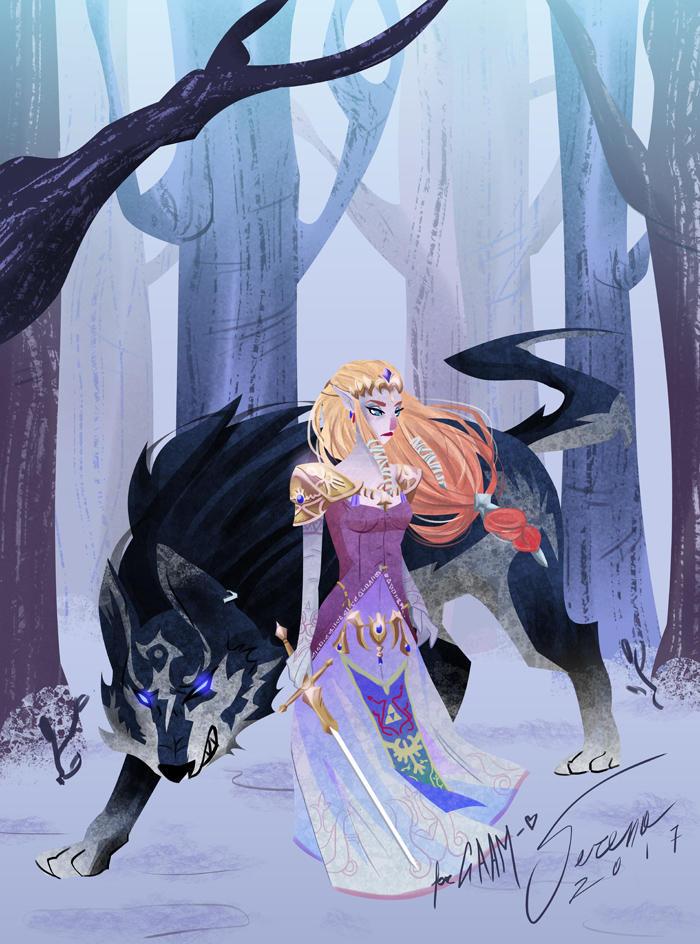 Princess and Wolf by SerenaR-art
