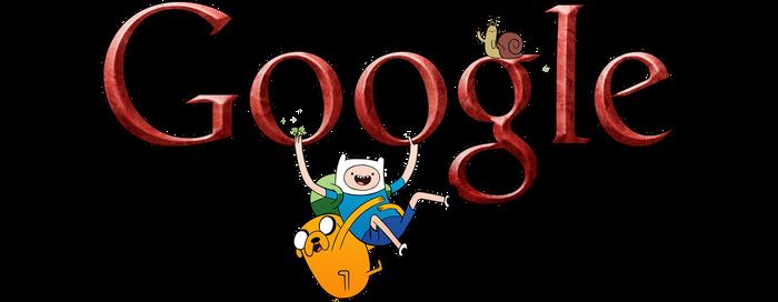 Adventure Time Google Logo 1 (+installation guide) by Albusonita