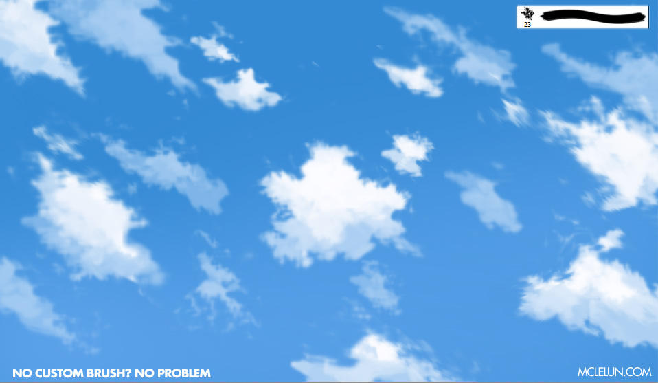 anime cloud default brush