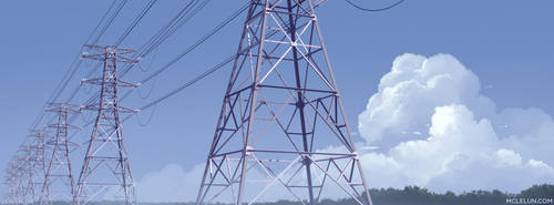 Pylon and Cloud by mclelun