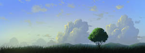 default brush landscape painting by mclelun
