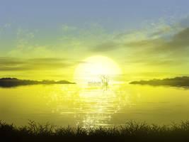 Kraken Enjoying Sunset by mclelun