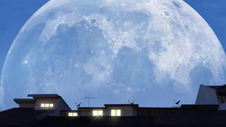 Big Moon by mclelun