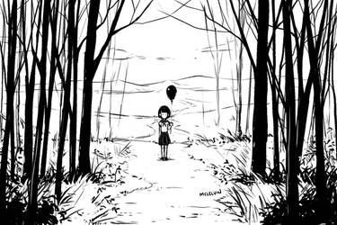 Girl In Forest by mclelun