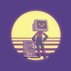 80s computer man by mclelun