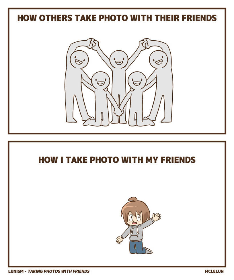 taking photo with friends by mclelun